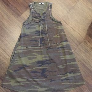Z Supply Camo All Tied Up Dress